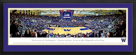 washington huskies framed panoramic poster print hec