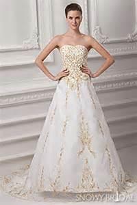 gold wedding dresses and ivory gold wedding dresses snowybridal - Cheap Wedding Dresses 100