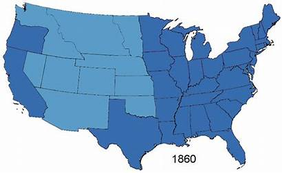 States United Map American Civil War 1861