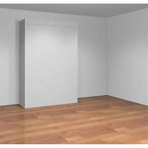 Lit Armoire Escamotable : teo armoire lit escamotable 140 cm blanc mat achat ~ Dode.kayakingforconservation.com Idées de Décoration