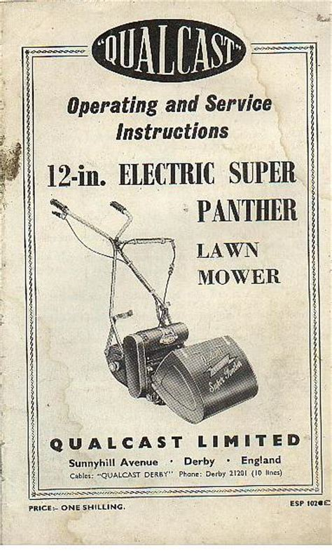 qualcast mower  electric super panther lawn mower