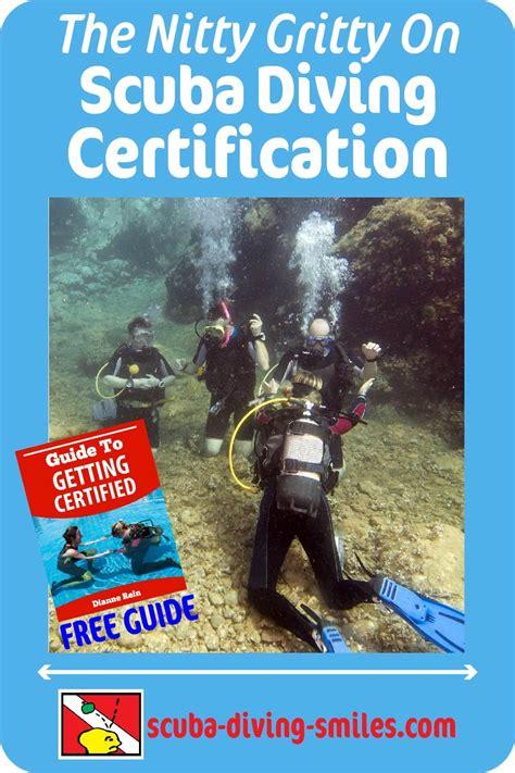 scuba diving certification information  long