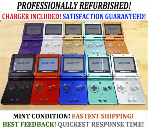 advance the colors nintendo boy advance gba sp advance system ags 001
