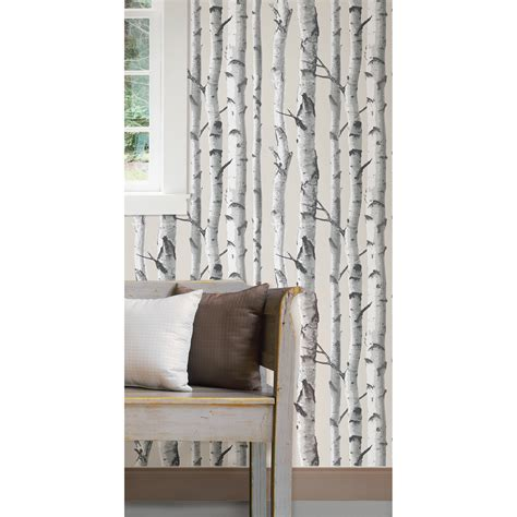 Wallpops! Birch Tree Peel And Stick Wallpaper & Reviews
