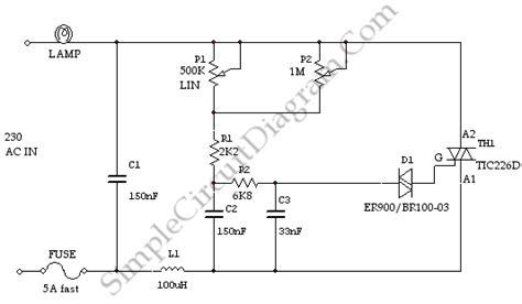Dimmer Simple Circuit Diagram