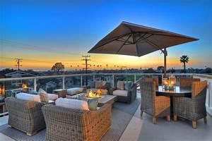 Newport Beach - Rooftop Patio - Traditional - Patio