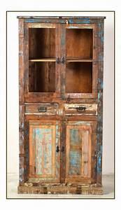 Shabby Chic Vitrine : shabby chic m bel vintage vitrine 90x180x40cm ~ Eleganceandgraceweddings.com Haus und Dekorationen
