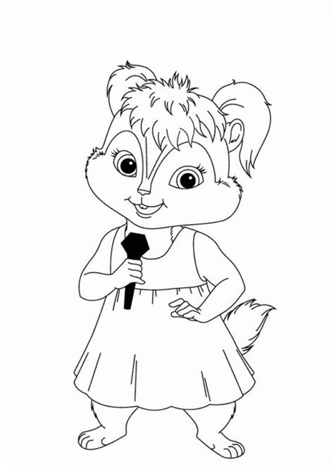Alvin And The Chipmunk Coloring Pages Chipmunk Coloring Pages Coloring Home