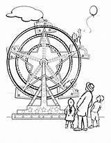 Ferris Coloring Wheel Carnival Tocolor Place Preschool Wheels sketch template
