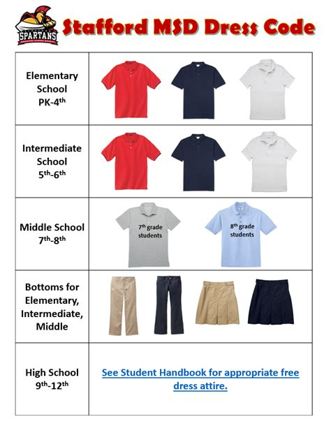 dress code stafford municipal school district