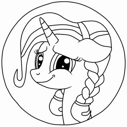 Coloring Ponyville Pages Printable Cartoon Equestria Ponies