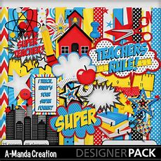 Digital Scrapbooking Kits  Super Teacher Kit(acreatn)  Entertainment, Kid Fun, School