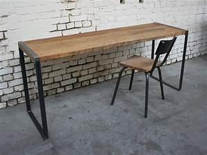 Bureau Style Industriel : bureau metal bois ~ Teatrodelosmanantiales.com Idées de Décoration