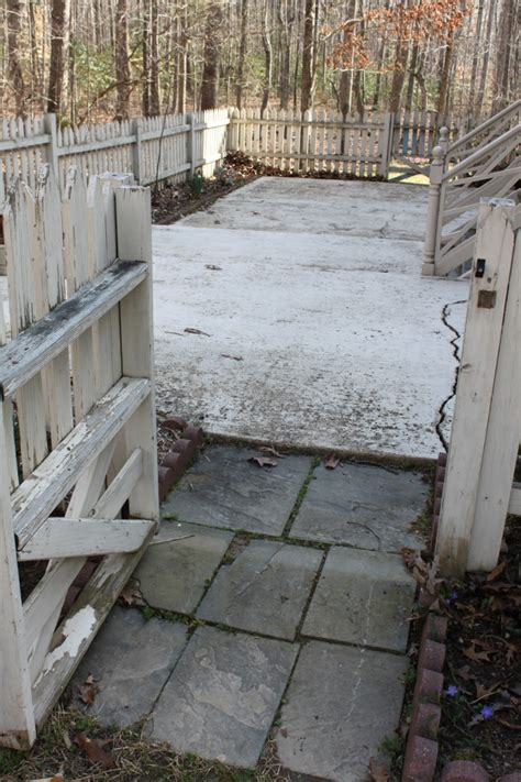 slate concrete patio makeover