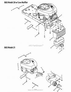 Mtd 13am762f052  2008  Parts Diagram For B U0026s Model 28 W