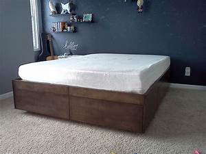 Diy Bed Platform With Storage Simple — Room Decors And