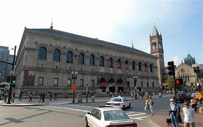Boston Library Massachusetts States United Orginal