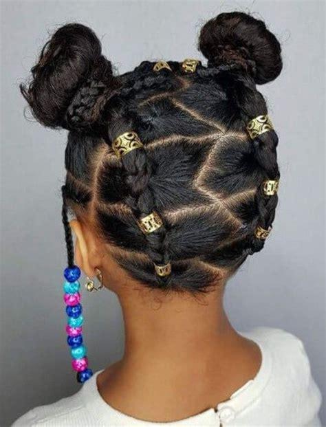 adorable braids  beads hairstyles  black kids