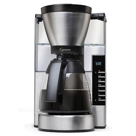 Mason cold brew coffee maker is the most ideal and perfect kit since it features a heavy, durable and has a strong and superior filter and hence making it ideal and perfect for you. Capresso® MG900 10-Cup Rapid Brew Coffee Maker | Bed Bath & Beyond