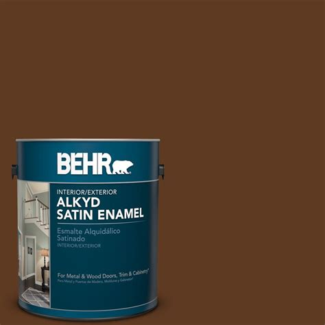 behr marquee 1 gal 370f 7 pinetop satin enamel exterior