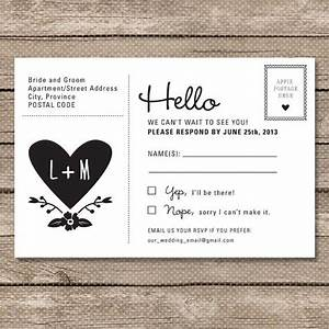 wedding rsvp postcard printable pdf garden whimsy With wedding rsvp cards postcard style