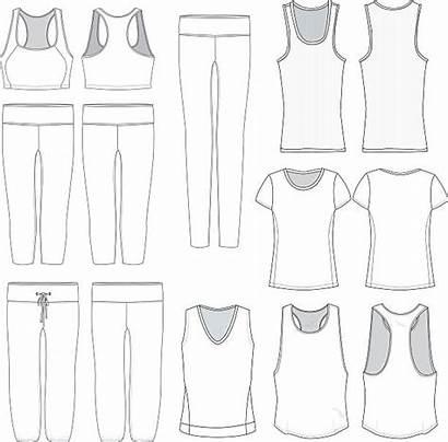 Leggings Vector Templates Wear Clip Illustrations Womens