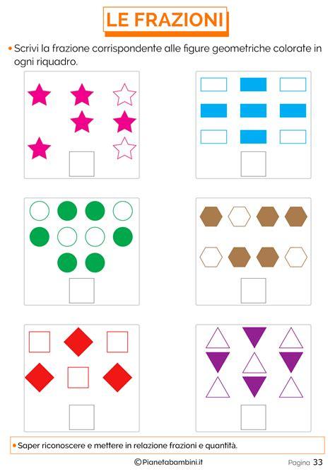 spiegare le frazioni ai bambini  esercizi semplici