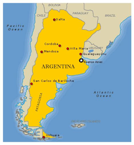 map  argentina travelquazcom