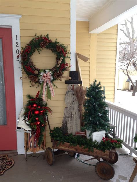 Primitive Porches Christmas Porch Decor
