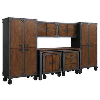 whalen  piece workbench  cabinet set vintage