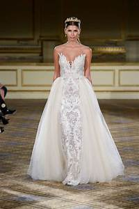 wedding dresses photos berta fw16 lace gown with With over skirt wedding dress
