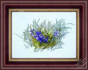 Zweigart Color Chart Cross Stitch Kits Alisena Cross Stitch Kits Flowers