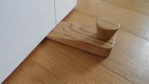 Solid, Oak, Lacquered, Wooden, Floor, Door, Stop, Wedge, With, Cork, Base