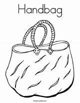 Coloring Handbag Bag Purse Printable Outline Twistynoodle Built California Usa Getdrawings Getcolorings Noodle sketch template