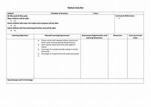 medium term planning format by bearbear teaching With medium term plan template