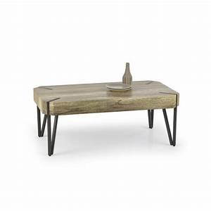 Table Basse Metal Et Bois : table basse industrielle bois et m tal nido so inside ~ Teatrodelosmanantiales.com Idées de Décoration