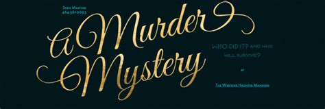 Murder Mystery Invitation Ideas