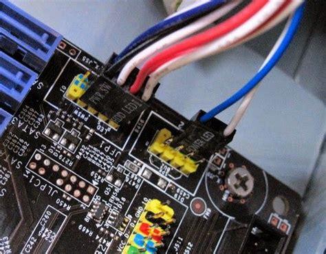 memasang kabel konektor hd led power led reset sw