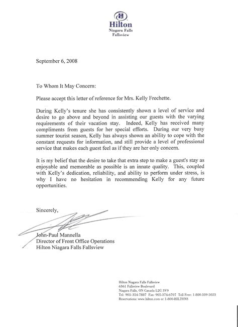 reference letter template  employer letters