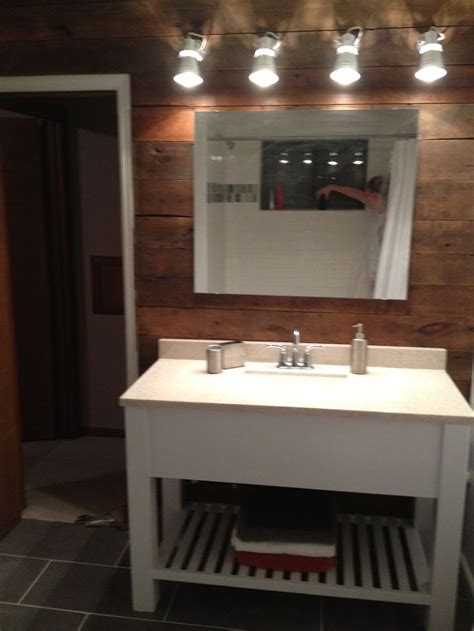 over the sink lighting ikea bath vanity barn wood wall ikea lights white modern
