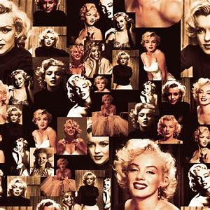 Marilyn Monroe Vintage Collage fabric - lusykoror ...