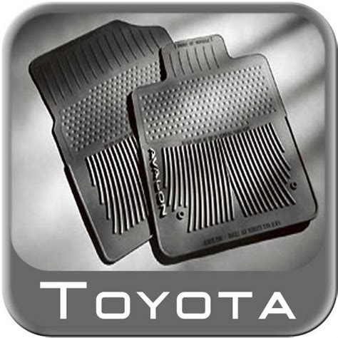 2010 2011 toyota avalon rubber floor mats all weather black