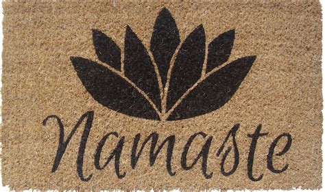 namaste doormat products for a better world namaste welcome mat culture ist