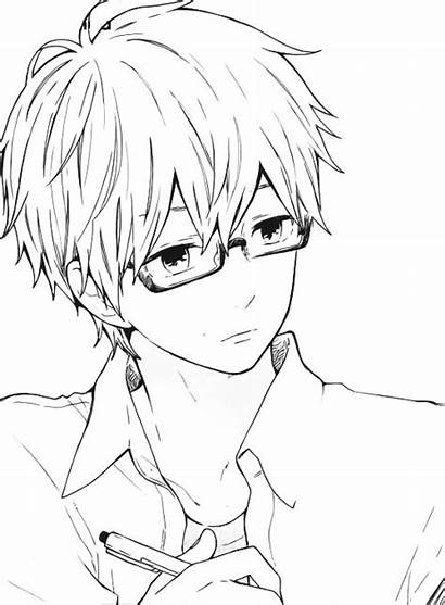 Anime Boy Glasses Boys Manga Guy Drawings