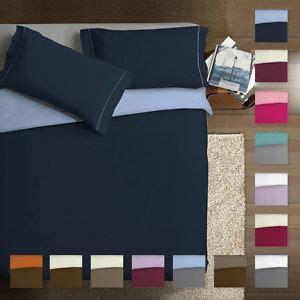 parure copripiumino matrimoniale puro cotone double colour colori vari  ebay