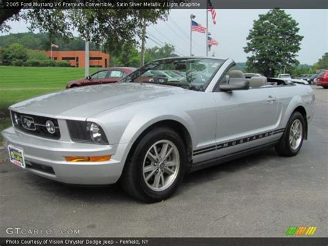 2005 Ford Mustang Convertible by 2005 Ford Mustang V6 Premium Convertible In Satin Silver