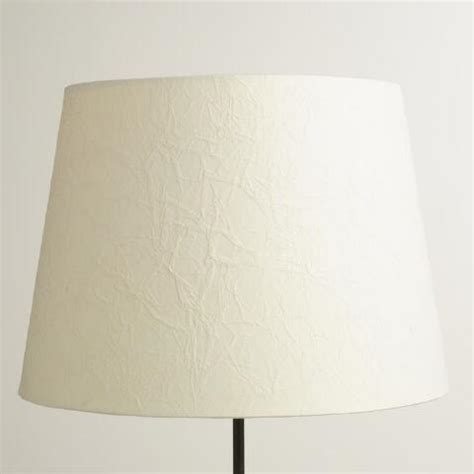 paper shade table l crinkled white paper table l shade world market
