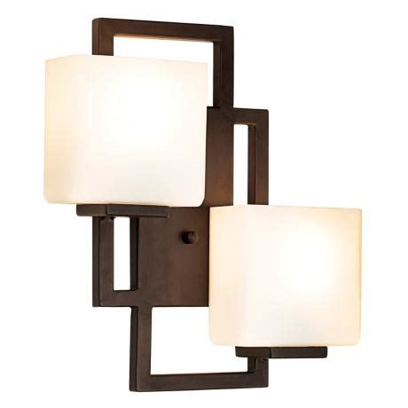 Square Wall Sconce - lighting on the square bronze 15 1 2 quot high wall sconce
