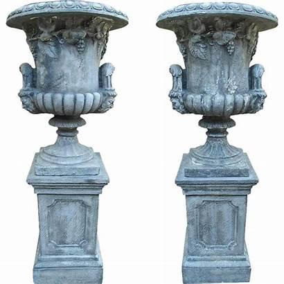 Medici Urns Garden Pedestals France Rubylane Pair