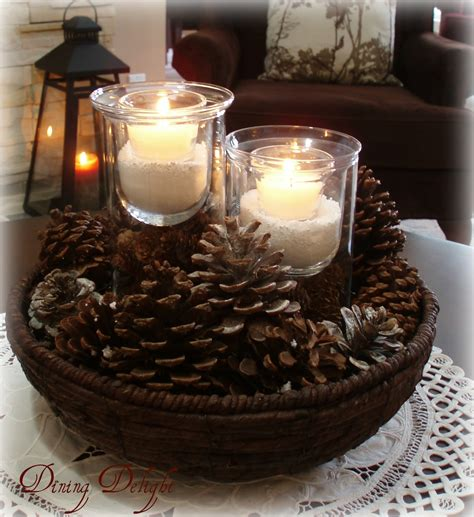 Dining Table Centerpiece Ideas Home by Dining Delight Winter Living Room In White Brown And Cream